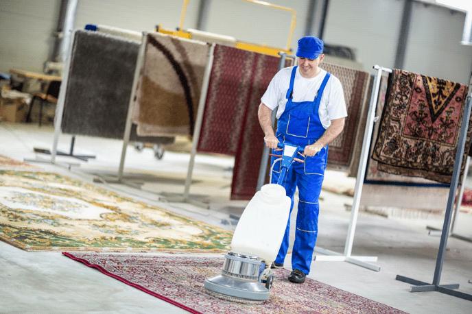 Staub vom Teppich entfernen