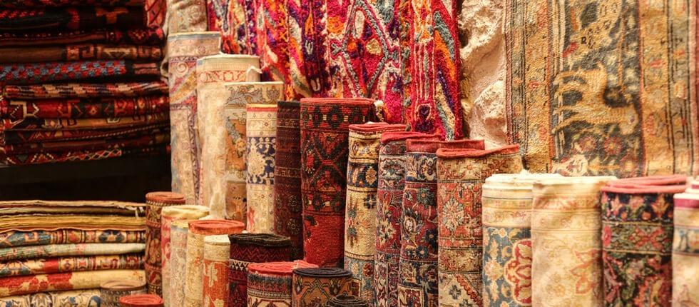 verschiedene Arten von Teppichen